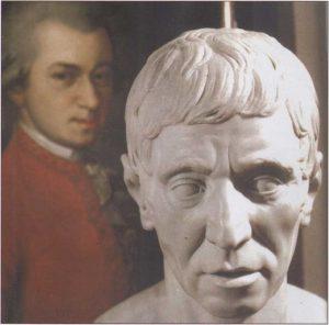 1784'de Mozart tekris olunca, dostu ve müzik konularındaki akıl hocası Joseph Haydn da Mason olmak istedi. Haydn'm tekrisi ile, iki bestekârın işbirliği inanılmaz derecelere vardı. Her iki bestekâr sürekli mektuplaştı, mektuplarında da kompozisyon parçalarını, denemelerini birbirlerine yolladılar, böylece dostlukları ve sanatsal işbirlikleri sürekli beslendi.