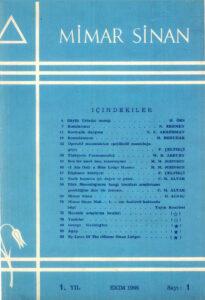 Mimar Sinan Dergisi (1)