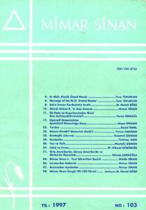 Mimar Sinan Dergisi (103)