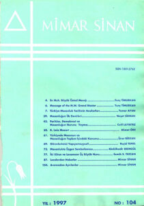 Mimar Sinan Dergisi (104)