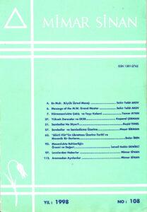 Mimar Sinan Dergisi (108)