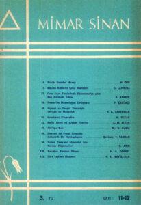 Mimar Sinan Dergisi (11)(12)