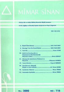 Mimar Sinan Dergisi (116)