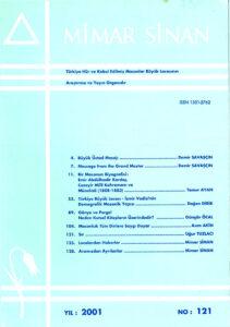 Mimar Sinan Dergisi (121)