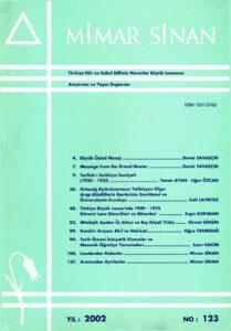 Mimar Sinan Dergisi (123)