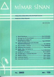 Mimar Sinan Dergisi (125)