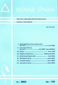 Mimar Sinan Dergisi (129)