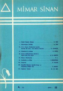 Mimar Sinan Dergisi (13)