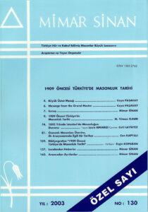 Mimar Sinan Dergisi (130)