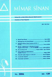 Mimar Sinan Dergisi (139)