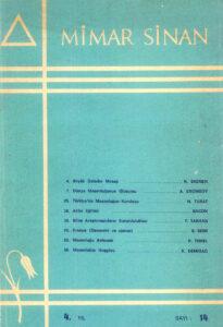 Mimar Sinan Dergisi (14)