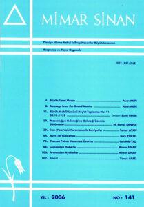 Mimar Sinan Dergisi (141)