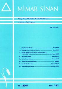 Mimar Sinan Dergisi (142)