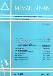 Mimar Sinan Dergisi (145)