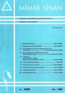 Mimar Sinan Dergisi (148)