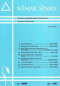 Mimar Sinan Dergisi (149)