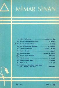 Mimar Sinan Dergisi (15)