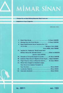 Mimar Sinan Dergisi (153)