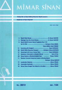 Mimar Sinan Dergisi (154)