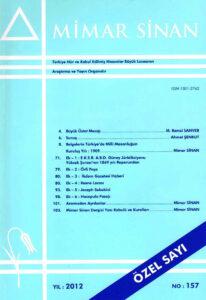 Mimar Sinan Dergisi (157)