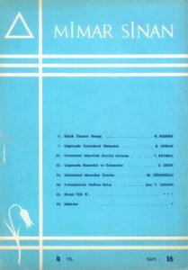Mimar Sinan Dergisi (16)