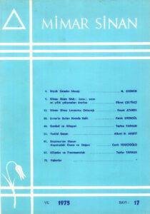 Mimar Sinan Dergisi (17)
