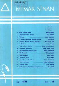 Mimar Sinan Dergisi (18)