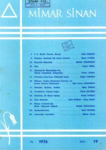 Mimar Sinan Dergisi (19)