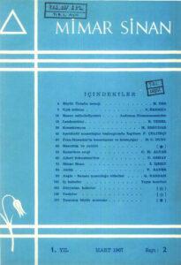 Mimar Sinan Dergisi (2)