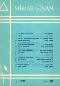 Mimar Sinan Dergisi (20)