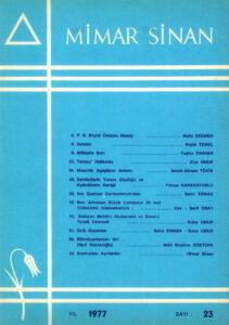 Mimar Sinan Dergisi (23)