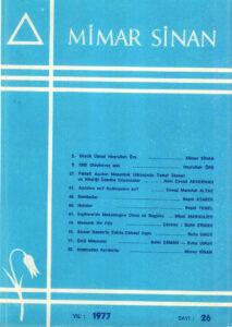 Mimar Sinan Dergisi (26)