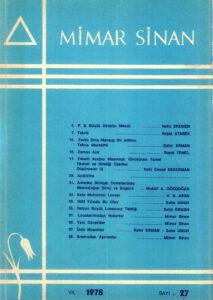 Mimar Sinan Dergisi (27)