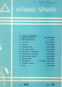 Mimar Sinan Dergisi (32)