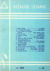 Mimar Sinan Dergisi (33)
