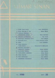 Mimar Sinan Dergisi (35)