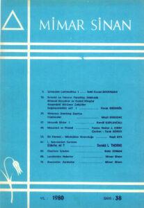 Mimar Sinan Dergisi (38)