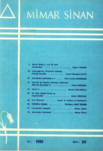 Mimar Sinan Dergisi (39)