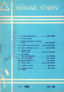 Mimar Sinan Dergisi (40)