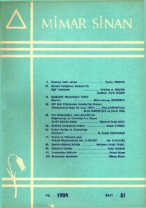 Mimar Sinan Dergisi (51)