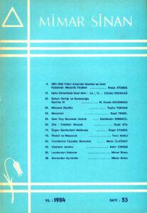 Mimar Sinan Dergisi (53)