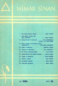 Mimar Sinan Dergisi (54)