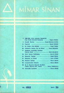 Mimar Sinan Dergisi (56)