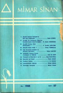 Mimar Sinan Dergisi (57)