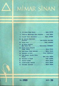 Mimar Sinan Dergisi (58)