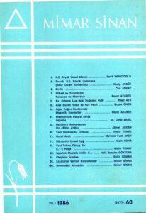 Mimar Sinan Dergisi (60)
