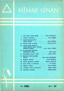Mimar Sinan Dergisi (61)