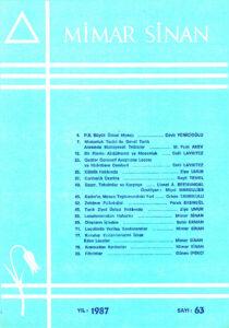 Mimar Sinan Dergisi (63)