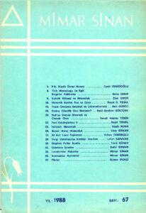 Mimar Sinan Dergisi (67)