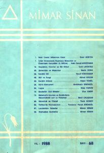 Mimar Sinan Dergisi (68)